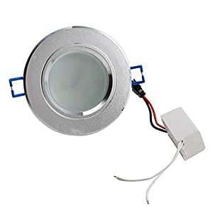 3.5W 5730 SMD 6-LED 300LM Warm White Ceiling Spot Light Bulb (Sanded, Frosted Glass Cover)