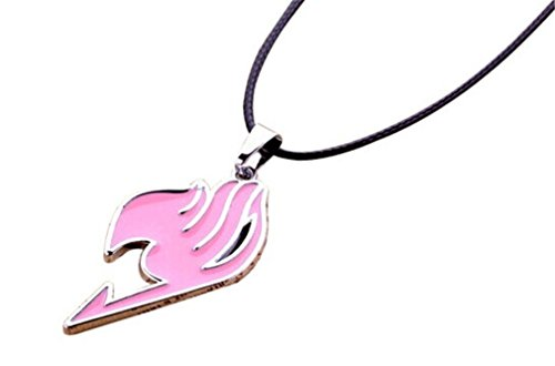 (Fairy Tail Natsu Dragneel Guild Symbol Copper Metal Pendant Necklace (Pink))