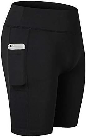 レディースジャージ上下セット 女性ハイウエストヨガショーツおなか内側ポケット (色 : ブラック, サイズ : XL)