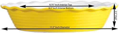 Palais Dinnerware 'Tarte' Collection, Ceramic Pie Dish - 10'' Diameter (Yellow) by Palais Dinnerware (Image #1)