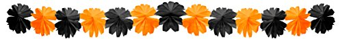 Fold Pp Wall (Party Partners Design Honeycomb Tissue Garland Decoration, Black and Orange)