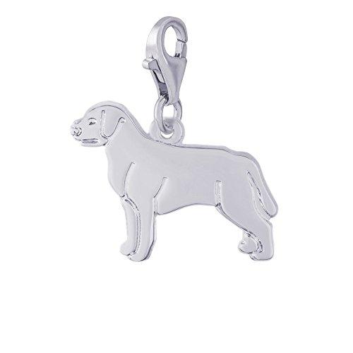 Sterling Silver Labrador Retriever - Rembrandt Charms, Labrador Retriever with Clasp, .925 Sterling Silver, Engravable