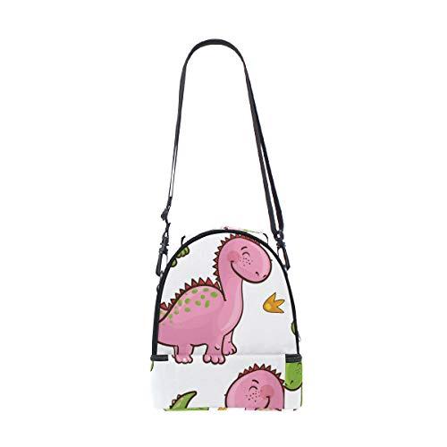 correa Bolsa de almuerzo para pincnic Alinlo con con para diseño aislante escuela de de dinosaurio ajustable el hombro la CwqddzE4W