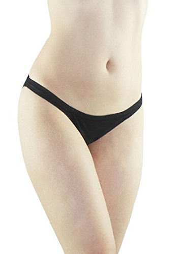 Elita Metropolis Low Rise Cotton Bikini Large Black ()