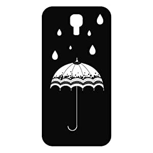 PEACH Umbrella Design Pattern Hollow Plastic Back Cover for SamSung Galaxy S4 I9500
