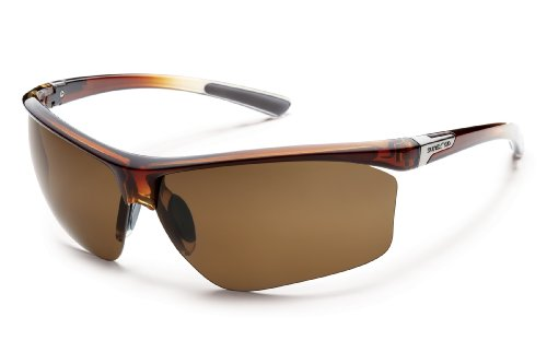 Suncloud Roadmap Polarized Sunglasses, Brown Fade Frame, Brown - Sunglasses Optical Insert