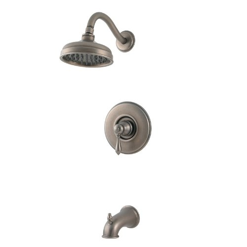 Marielle Volume Control Tub and Shower Faucet Finish: Rustic Pewter - Marielle Set Bronze