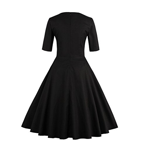 VKStar - Vestido - trapecio - para mujer negro