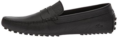Lacoste Men's Concours Shoes,Black leather,12 Medium US