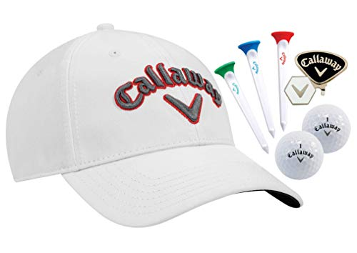Callaway Tour Hat Gift Set, White