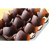 K and B Lot de 100 caissettes à muffins Design tulipe Marron chocolat