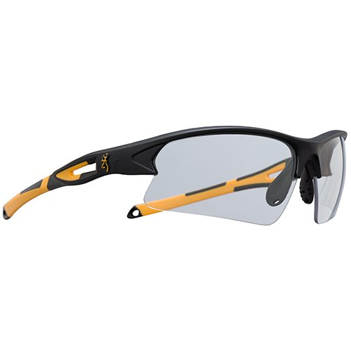 Browning 127173 On Pt. Shooting Glasses, Black/Gold, Clear