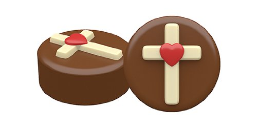 SpinningLeaf Heart Cross Sandwich Cookie Mold (Chocolate Covered Oreos Mold)