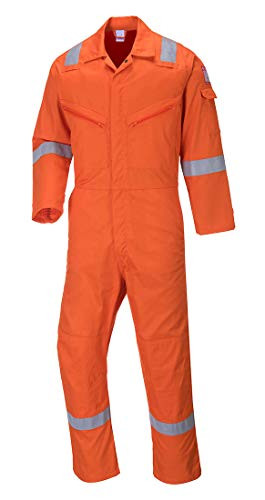 Portwest C814ORRXL Iona Cotton Coverall, Fabric, X-Large, Orange