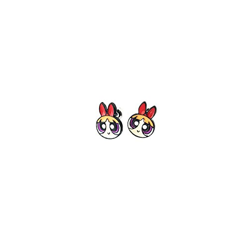 Powerpuff Girls Blossom Logo Superhero Cartoon Post Stud Earrings In Gift Box]()