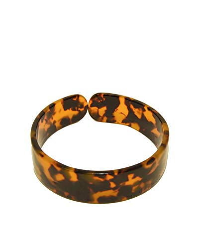 - Sidecca Retro Acrylic Tortoise Shell Open Cut Thin & Wde Cuff Bangle (Tortoise: .75