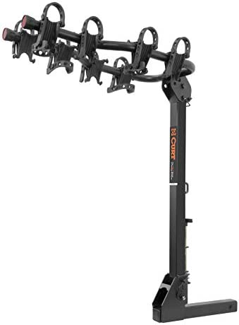 CURT 18064 Premium Hitch Bike Rack, 4 Bikes, Fits 2-Inch Receiver