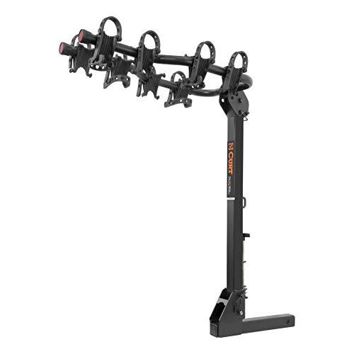 CURT 18064 Premium Hitch Bike Rack, 4 Bikes, Fits 2-Inch Receiver