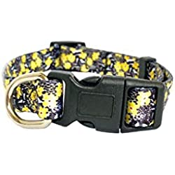 Buttercup Pets Adjustable Cat and Dog Collar Paw Prints, Buttercup Florals for Large, Medium or Small Cats and Dogs Collars, Harnesses or Leashes