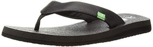 Sanuk Women's Yoga Mat Daily Sandal, Black, 08 M -