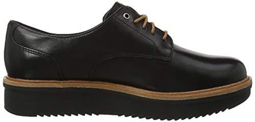 Rhea Cordones De Zapatos Mujer Para black Negro Teadale Leather Brogue Clarks qwIPO5w