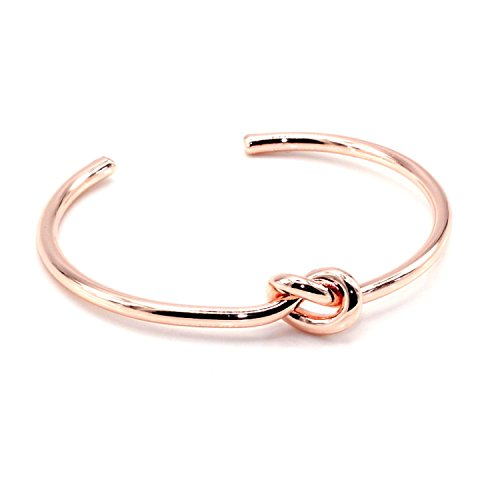 Maya Bracelets Circular Knot Cuff Bangle Bracelet (Rose Gold)
