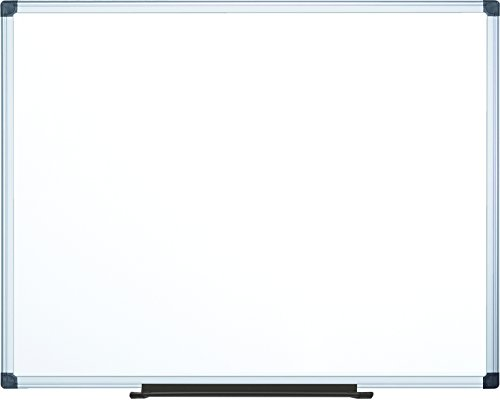 MasterVision Maya Melamine Dry Erase Board with Tray, 48'' x 72'', Whiteboard with Aluminum Frame by MasterVision