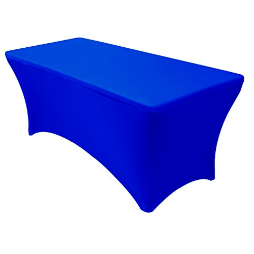 Spandex 6 Ft Rectangular Stretch Tablecloth - Royal Blue (Royal Blue Chair)