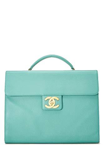 - CHANEL Seafoam Caviar Leather Briefcase (Pre-Owned)