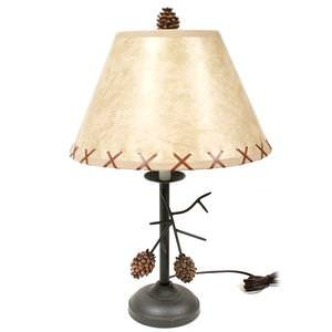 Pine Cone Branch Table Lamp