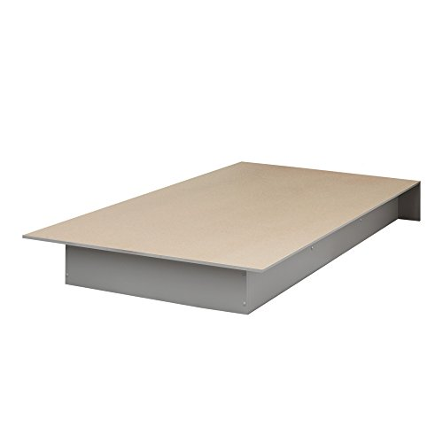 South Shore Libra Twin Platform Bed (39''), Soft Gray by South Shore