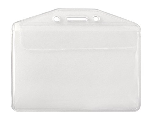 (Clear Soft Vinyl Horizontal Badge Holder With Fold Over Flap by Specialist ID, Sold Individually)