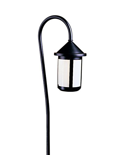 Arroyo Craftsman LV36-B6SWO-VP Low Voltage Berkeley Short Body Light Fixture with Bo Peep Stem and White Opalescent Glass, 6