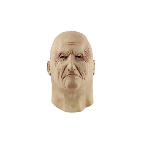 Cosplay Costume Novelty Halloween Creepy Old Man Latex Mask (Picture Color)