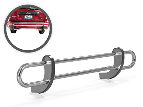 Vanguard VGRBG-0522SS Stainless Steel Double Tube Rear Bumper Guard Compatible with 08-12 Jeep Liberty