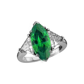 103ct marquise cut emerald diamond engagement ring 14k gold 103ct marquise cut emerald diamond engagement ring 14k gold aloadofball Image collections