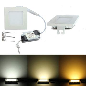 Dimmable Ultra Thin 9W LED Ceiling Square Panel