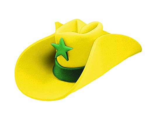 UHC Jumbo Foam Cowboy 40 Gallon Hat Adult Halloween Costume Accessory (Yellow)]()