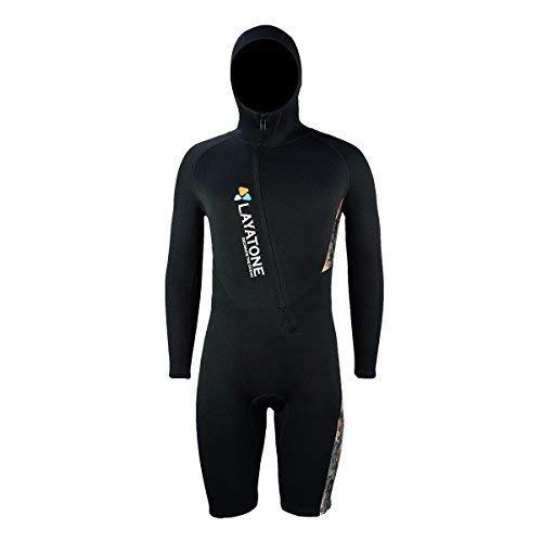 Layatone Wetsuit Shorty Men - Premium Neoprene 3mm Diving Suit Surfing Suit  with Hood - Wetsuit Men Scuba Diving Suit Snorkeling Suit - One Piece  Swimsuit ... cf9137e30
