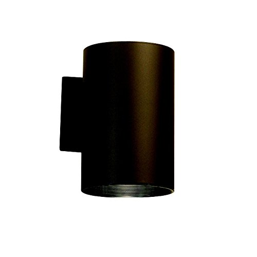 Sky Compliant Light Fixtures Dark (Kichler 9236AZ Indoor/Outdoor Wall 1-Light, Architectural Bronze)