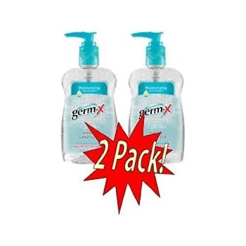 Germ X Hand Sanitizer with Pump Top 10 Ounce 2 Pack