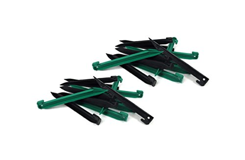 y Duty Plastic Tent Nails Stakes Pegs (12 Black + 12 Green) (Plastic Tent Pegs)