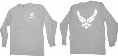 Moisture Wicking Long Sleeve Air Force PT Shirt - Reflective Material (2X-Large)