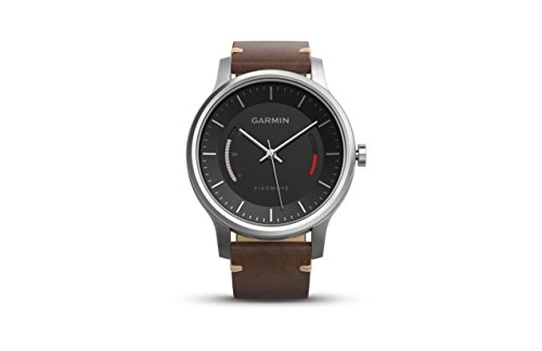 Garmin vívomove Premium - Stainless Steel with Leather Band