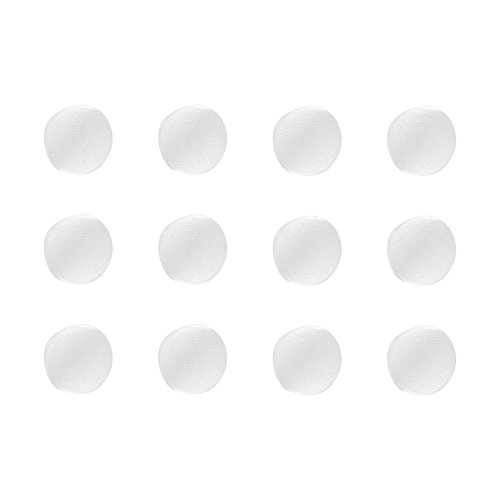 ButtonMode BU182DWH Fabric Covered Satin Trim Buttons, Metal Shank Back, White, 11mm 12-Pack