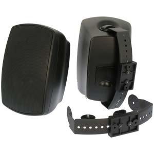InstallerParts Indoor / Outdoor Wallmount 2-Way Speakers Black BL520 1 Pair (2pc) by InstallerParts