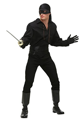 Men's Princess Bride Costume Westley Princess Bride Costume Medium Black