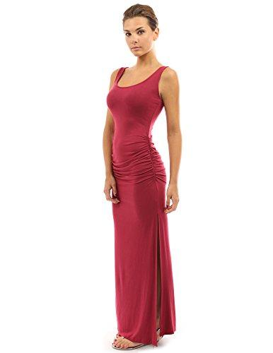 PattyBoutik Women's Sleeveless Summer Maxi Dress (Deep Red M)