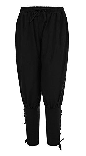 Skyvo Men's Spring Summer Autumn Ankle Banded Pants Medieval Viking Navigator Trousers Renaissance (Men's Renaissance Pants)