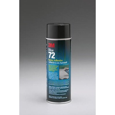 3M 72 Pressure Sensitive Spray Adhesive, 24 fl oz Aerosol Can, Blue (Case of 12)